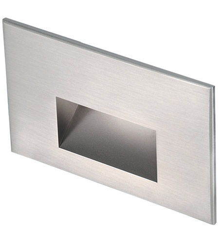 WAC Lighting 4011-30SS Landscape 12v 2.00 watt Stainless Steel Step and Wall Light in 3000K, Frosted photo