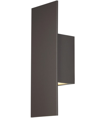 wac lighting wsw54614bz icon led 14 inch bronze outdoor wall light dweled - Wac Lighting