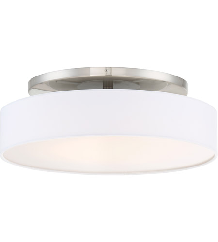 Manhattan Led 20 Inch Brushed Nickel Convertible Flush Mount Ceiling Light In 20in Dweled