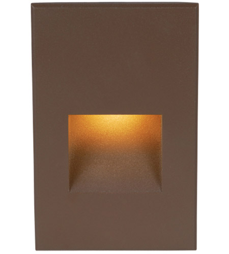 WAC Lighting 4021-AMBZ Landscape 12v 2.00 watt Bronze Step and Wall Light in Amber photo