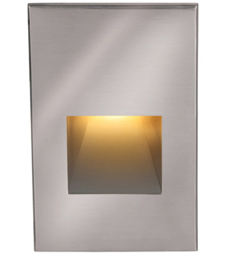 WAC Lighting 4021-AMSS Landscape 12v 2.00 watt Stainless Steel Step and Wall Light in Amber photo