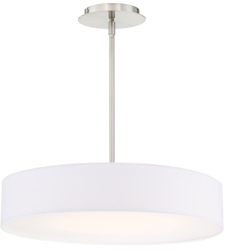 WAC Lighting PD-13720-BN Manhattan LED 20 inch Brushed Nickel Pendant Ceiling Light in 20in, dweLED photo