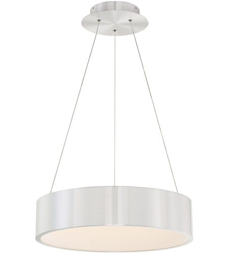 WAC Lighting PD-33718-AL Corso LED 24 inch Brushed Aluminum Pendant Ceiling Light in 18in, dweLED photo