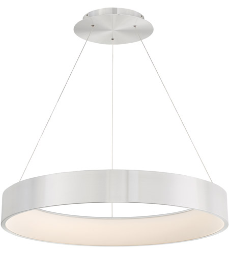 WAC Lighting PD-33732-AL Corso LED 32 inch Brushed Aluminum Pendant Ceiling Light in 32in, dweLED photo