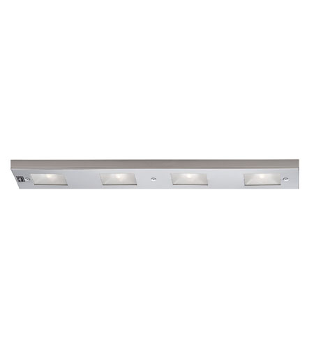 WAC Lighting BA LIX 4 SN Undercabinet Lighting 120V Xenon 24 Inch Satin  Nickel Xenon Light Bar