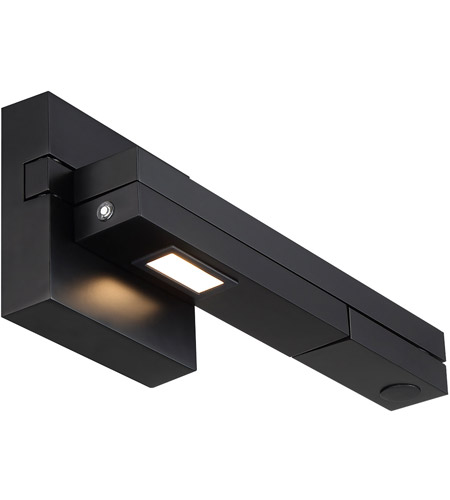 WAC Lighting BL-1021R-BK Flip 5 inch 8.50 watt Black Swing Arm Lamp Wall Light, dweLED photo