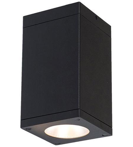 Cube Architectural Led 5 Inch Black Flush Mount Ceiling Light