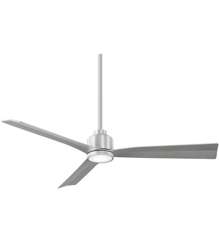 WAC Lighting F-003L-BA Clean 52 inch Brushed Aluminum Ceiling Fan in Included, Smart Fans photo thumbnail
