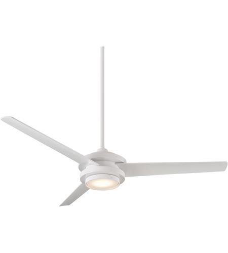 Wac Lighting F 068l Mw Geos 60 Inch Matte White Downrod Ceiling Fan Smart Fan