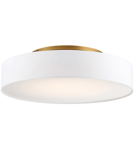 Wac Lighting Fm 13126 Ab Manhattan Led 26 Inch Aged Brass Semi Flush Mount Ceiling Light In 26in Dweled