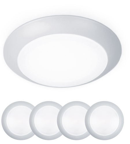WAC Lighting FM-306-930-WT-4 Disc LED 7 inch White Flush Mount and Retrokit Kit Ceiling Light photo