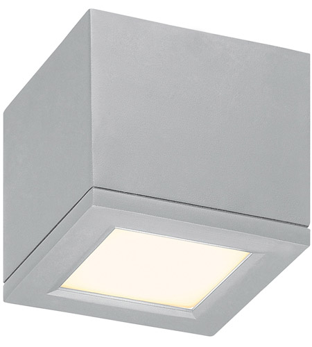 Wac Lighting Fm W2505 Al Outdoor Led 5 Inch Brushed Aluminum Flush Mount