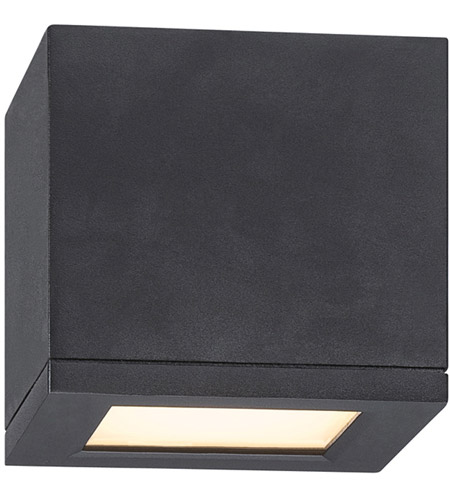 Wac Lighting Fm W2505 Bk Outdoor Led 5 Inch Black Flush Mount