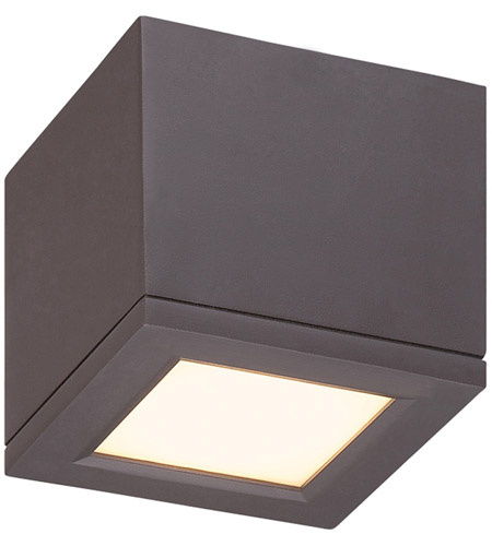 Wac Lighting Fm W2505 Bz Outdoor Led 5 Inch Bronze Flush Mount
