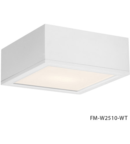 WAC Lighting FM-W2510-WT Outdoor Lighting LED 10 inch White Outdoor Flush Mount photo