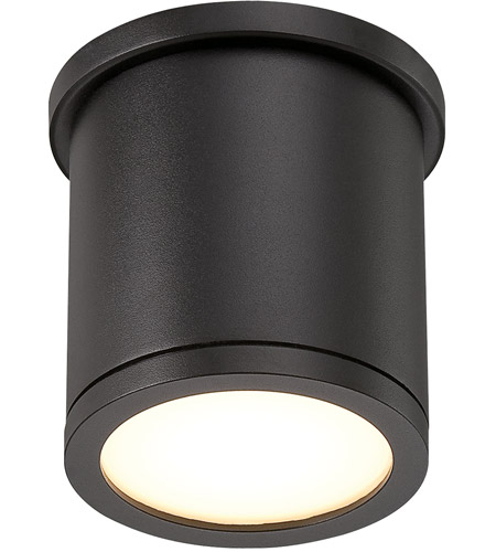 Wac Lighting Fm W2605 Bk Outdoor Led 5 Inch Black Flush Mount