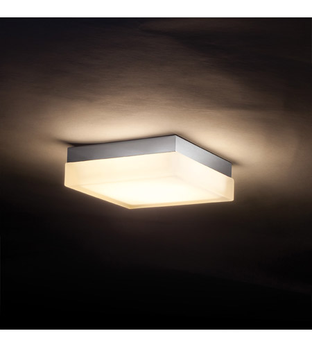Wac lighting dice 1 light flush mount sconce in brushed nicke fm 4006