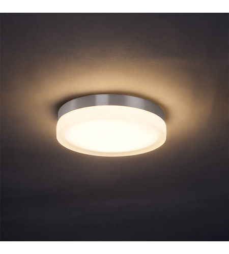 Wac lighting slice 1 light flush mount sconce in brushed nicke fm 4109