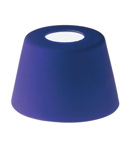 WAC Lighting G100 Series-Blue Cone Glass Shade in Blue G119-BL photo