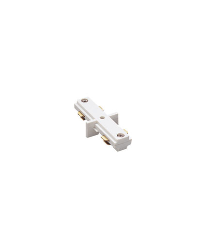 WAC Lighting HI-WT H Track 120V White Track Connector Ceiling Light photo