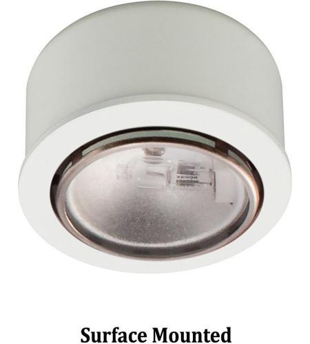 WAC Lighting HR 88 WT Undercabinet Lighting Halogen Bi Pin White Button  Light Retrofit Housing