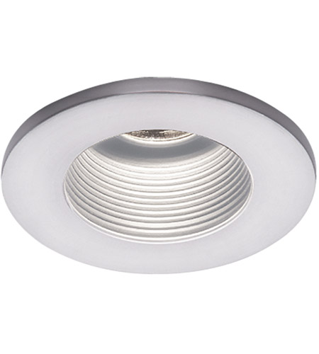 WAC Lighting HR-D324-WT/WT Signature MR16 White Step Baffle Trim, Commercial and Residential Lighting photo