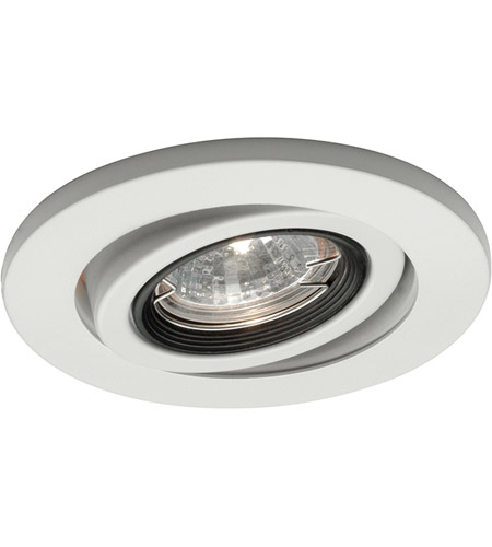 WAC Lighting HR-D417-WT Recessed Lighting MR16 White Recessed Trim and Socket, IC Airtight Installations photo