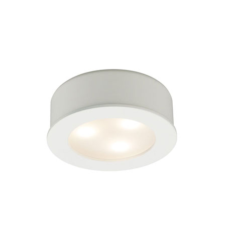 WAC Lighting Led Round Button Lights 3X1W 3000K in White HR-LED85-WT