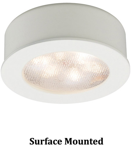 WAC Lighting HR-LED87-27-WT Undercabinet Lighting LED White Button Light in 2700K photo