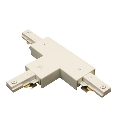 WAC Lighting JT-WT 120V Track System White Track T Connector Ceiling Light in J Track photo