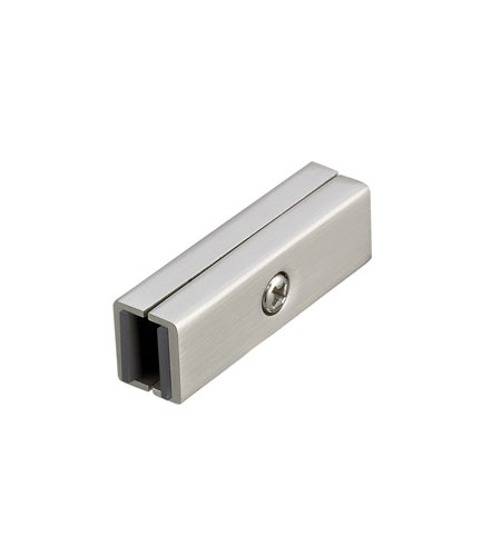 WAC Lighting Lv Monorail-Dead End Straight Connector in Brushed Nickel LM-IDEC-BN photo