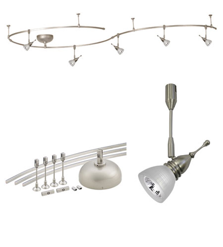 wac lighting lmk8811wtbn solorail brushed nickel rail fixture kit ceiling light - Wac Lighting