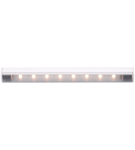 WAC Lighting LS-LED08-W-WT Undercabinet Lighting 24V 10 inch White Straight Edge String Light in 2700K, 7.25in photo