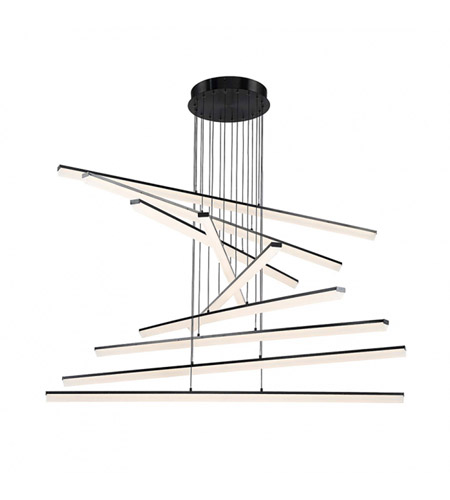 Stack Led 48 Inch Black Pendant Ceiling Light