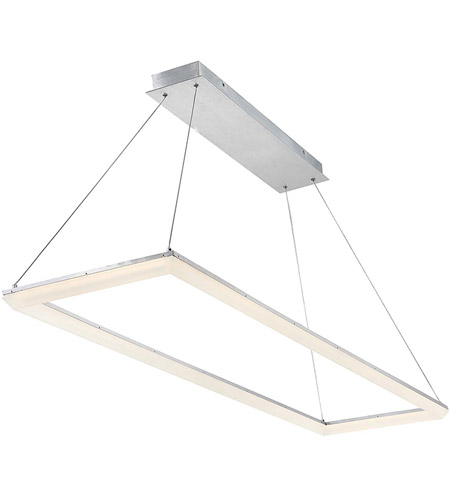 WAC Lighting PD-29858-AL Frame LED 16 inch Brushed Aluminum Pendant ...
