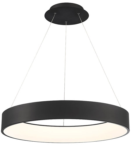 WAC Lighting PD-33732-BK Corso LED 32 inch Black Pendant Ceiling Light, dweLED photo