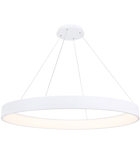 WAC Lighting PD-33753-WT Corso LED 53 inch White Pendant Ceiling Light in 53in, dweLED photo