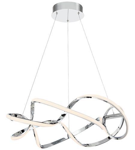 Interlace Led 28 Inch Chrome Pendant Ceiling Light