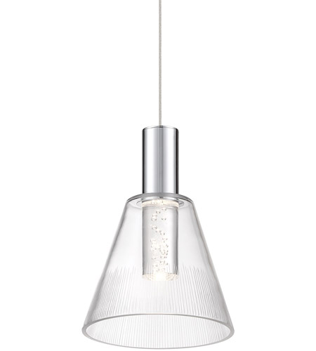 Pion Led 6 Inch Chrome Mini Pendant Ceiling Light Dweled