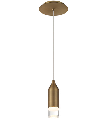 WAC Lighting PD-76908-AB Action LED 2 inch Aged Brass Mini Pendant Ceiling Light, dweLED photo