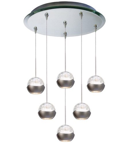 WAC Lighting QMP-LED311/6-MR Cosmopolitan LED 4 inch Mirror Pendant Ceiling Light in 6 photo