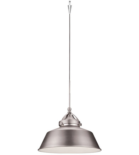Early Electric 9 Inch Brushed Nickel Pendant Ceiling Light In Quick Connect