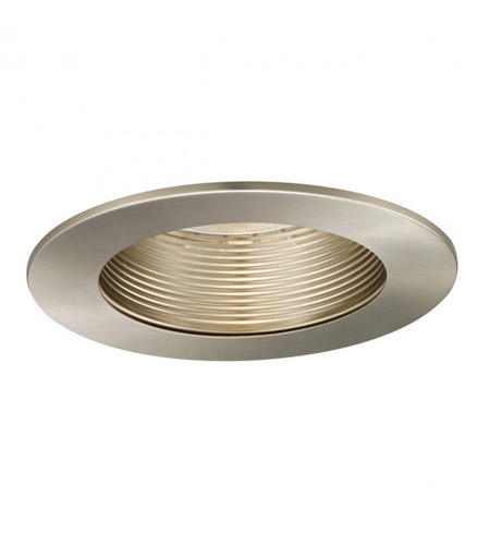 WAC Lighting R-520-BN Signature A19, PAR30, R30, TRI-TUBE 4-PIN Brushed Nickel Step Baffle Trim, Residential and Light Commercial photo