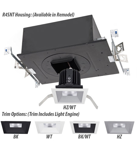 WAC Lighting R4SD1T-W827-BK Volta LED Module Black Shallow Regressed Trim alternative photo thumbnail