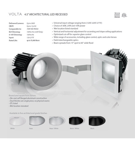 WAC Lighting R4SD2L-F835-BK Volta LED Module Black Invisible Trim alternative photo thumbnail
