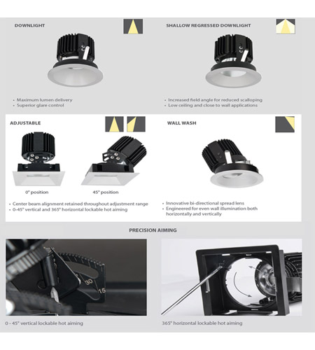 WAC Lighting R4RD1T-N835-HZWT Volta LED Module Haze White Shallow Regressed Trim alternative photo thumbnail