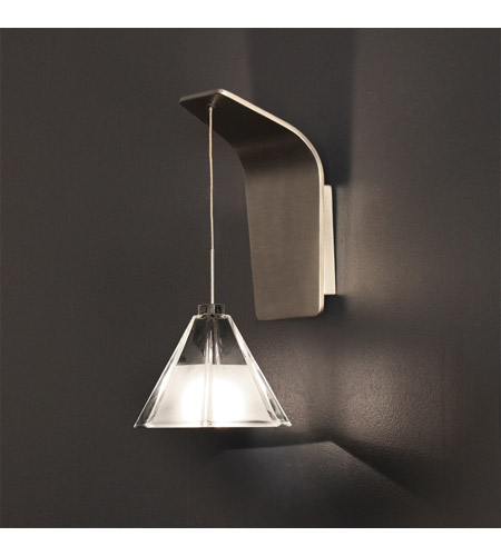WAC Lighting WS QA72 BN Signature 5 Inch Brushed Nicke Wall Sconce Bracket Wall  Light In Brushed Nickel