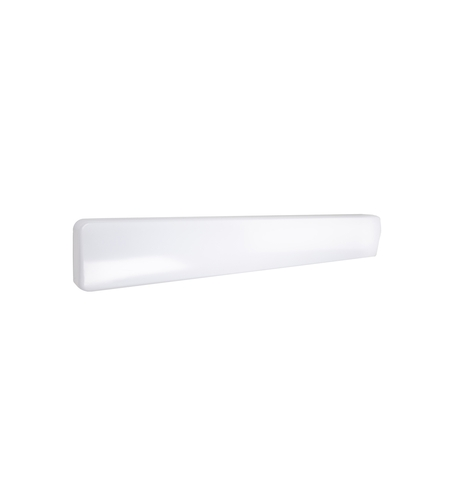 White Aluminum Flo Bathroom Vanity Lights