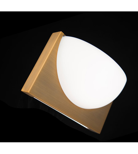 WAC Lighting WS-27010-AB Mylie LED 4 inch Aged Brass ADA Wall Sconce Wall Light, dweLED alternative photo thumbnail