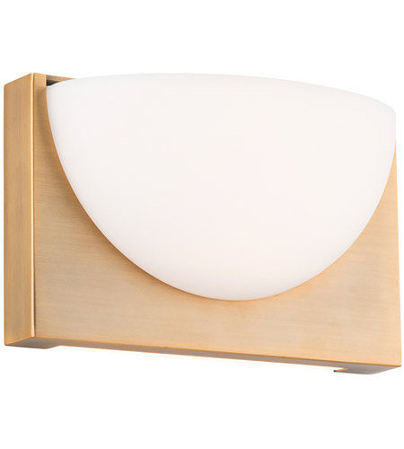 WAC Lighting WS-27010-AB Mylie LED 4 inch Aged Brass ADA Wall Sconce Wall Light, dweLED photo thumbnail